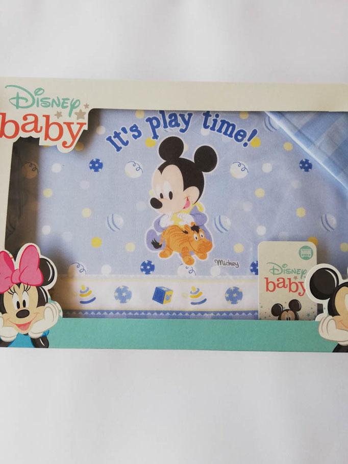 Completo lenzuola Disney baby lettino (culla) 100% cotone. Col.Celeste. C058