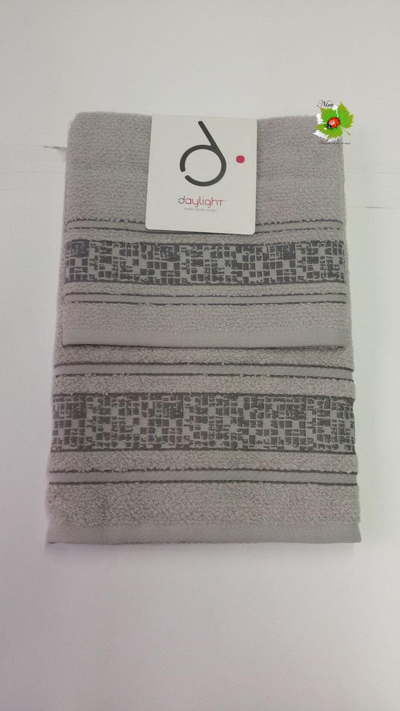 Set asciugamano 1+1 Day light/Dea Battaglia. Col. Grigio.Art.A581