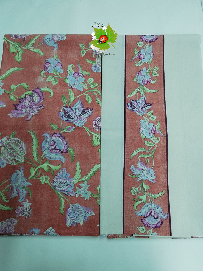 Scampolo tessuto di cotone Loneta a fantasia a fiore 280x280 cm. B274
