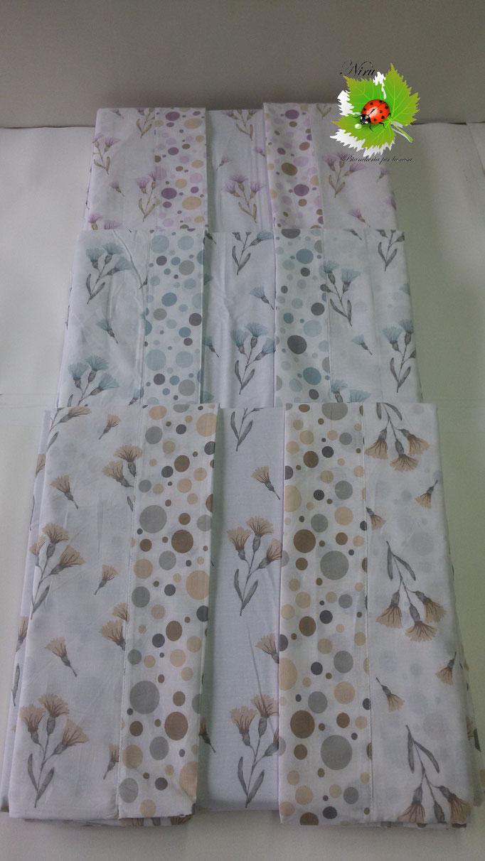 Completo lenzuola con fiori di Regina Schrecker per letto matrimoniale due piazze. B203