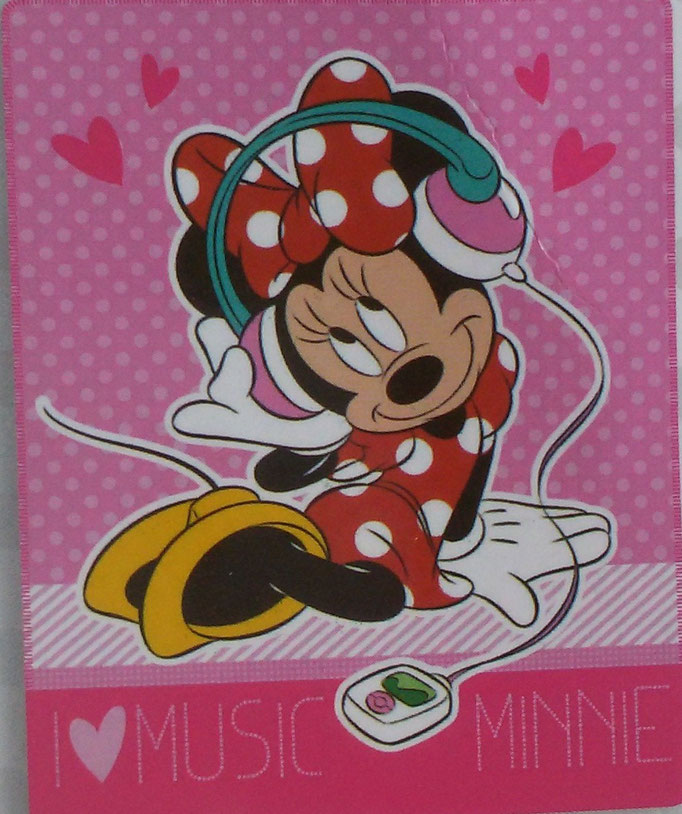 Plaid in pile Minnie Music 130x160 cm. A939