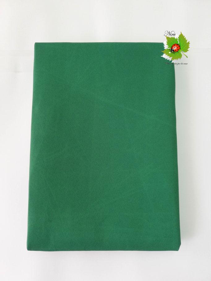 Tenda da sole con anelli tinta unita 140X300 cm per esterno. Art.Caraibi. Col.Verde. B464