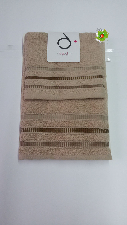 Set asciugamano 1+1 Day light/Dea Battaglia. Col. Beige.Art.579