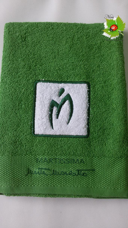 Asciugamano Marta Marzotto 1+1 asciugamano viso e ospite . Col.Verde prato.B187