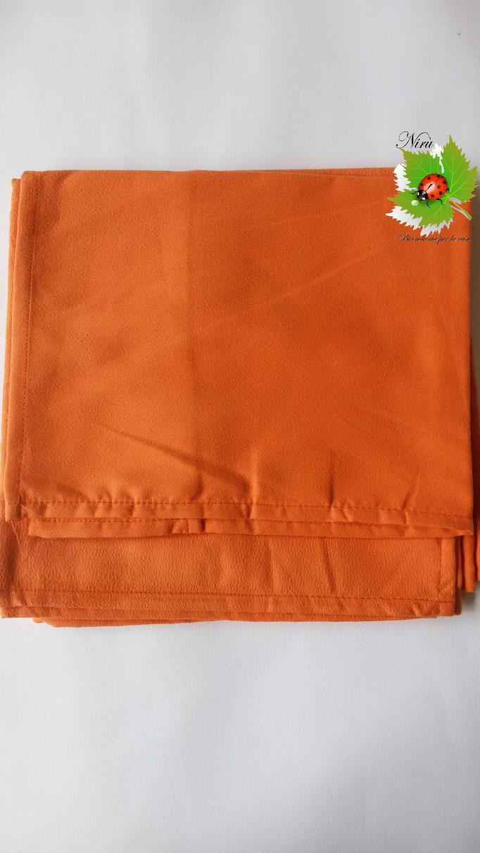 Set 1+1 asciugamano + ospite in microfibra. Col.Arancio.A812