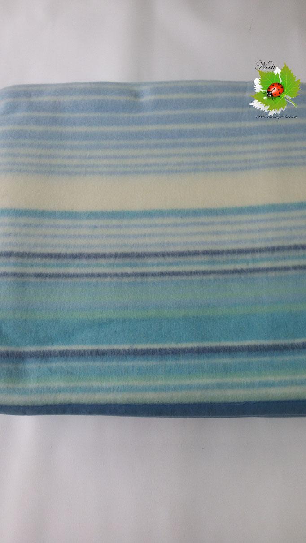 Coperta jacquard misto lana singolo codival. Art.Tesy. Col.Azzurro.B32