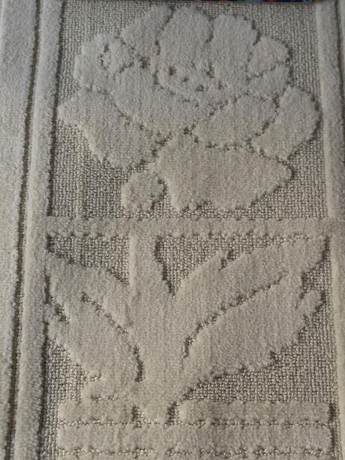 Tappeto bagno rettangolare antiscivolo,col.panna Art.A510