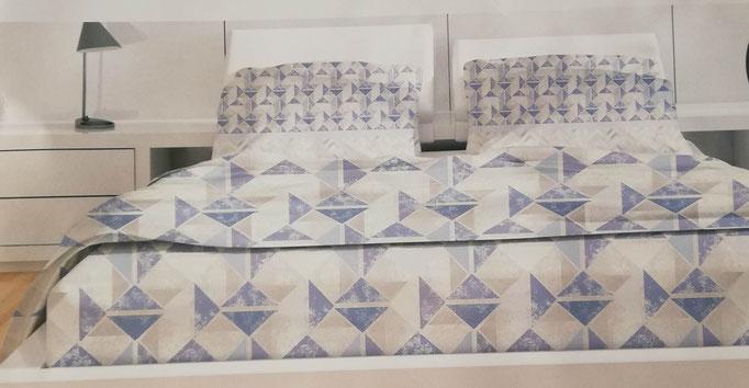 Completo lenzuola di flanella una piazza e mezza Ambrosiana-collection. Art.Stefany. A734
