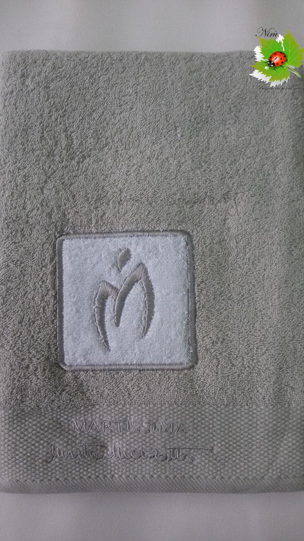 Asciugamano Marta Marzotto 1+1 asciugamano viso e ospite . Col.Grigio perla.B187