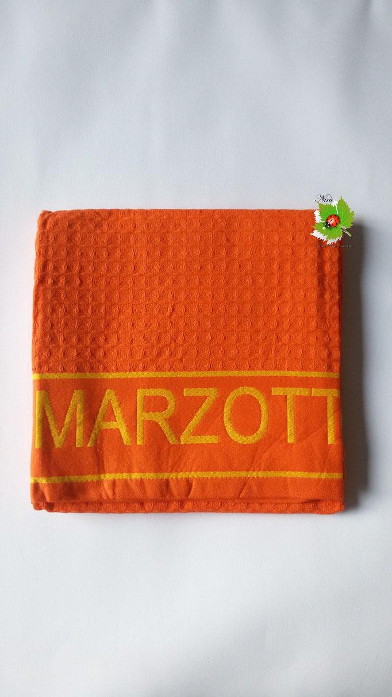 Telo mare piscina bagno a nido d'ape Marta Mazzotto 90x160 cm. Col.Arancio Art.N155