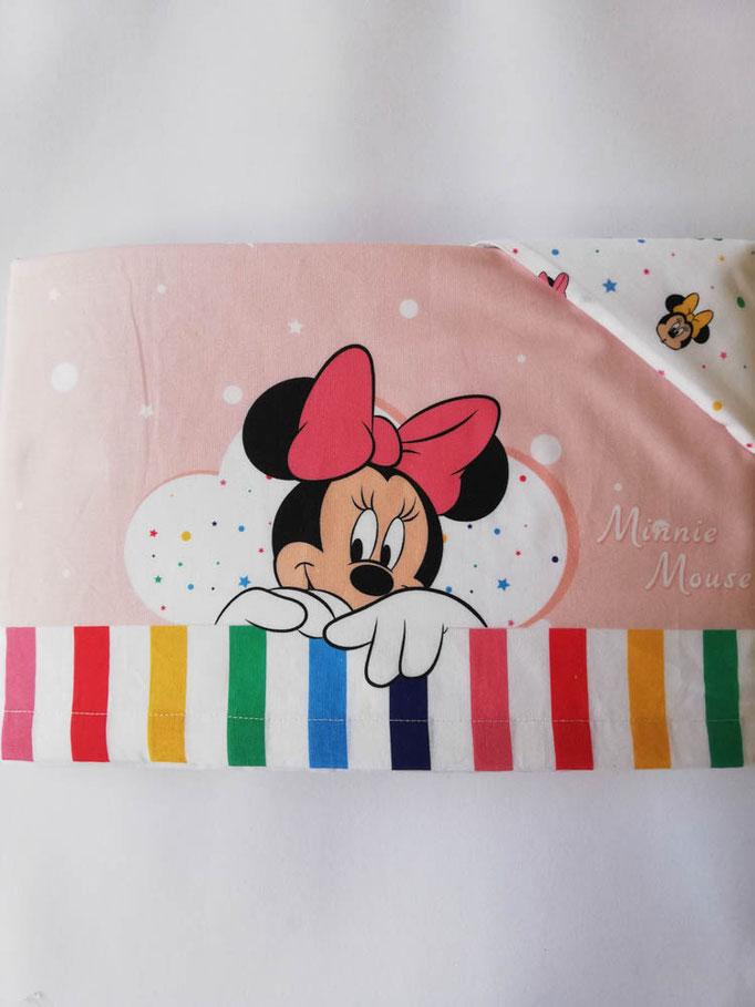 Completo lenzuola Disney baby lettino (culla) 100% cotone. Col.Rosa. C057