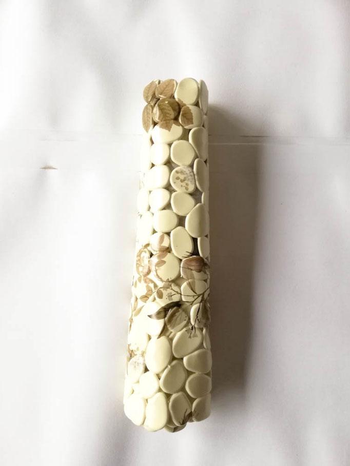 Tappeto doccia/vasca antiscivolo di forma rettangolare con sassolini 40x70 cm. Col.Giallino chiaro. B783