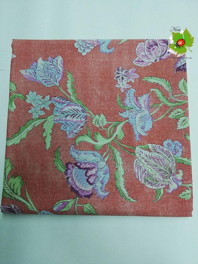 Scampolo tessuto di cotone Loneta a fantasia a fiore 280x280 cm. Col.Tutto fantasia a fiore.B274