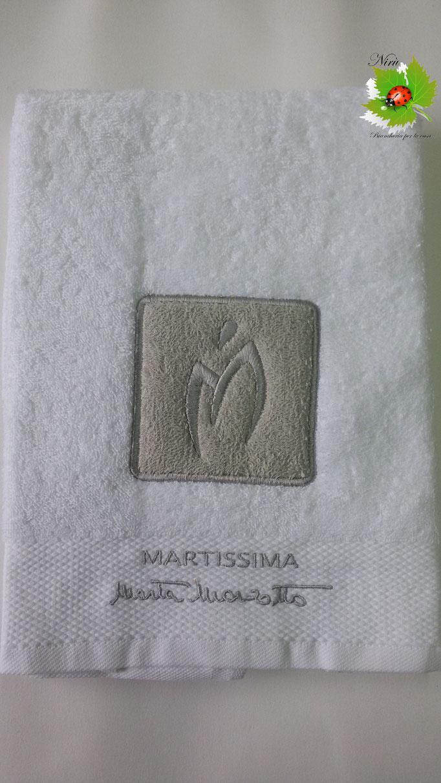 Asciugamano Marta Marzotto 1+1 asciugamano viso e ospite . Col.Bianco.B187