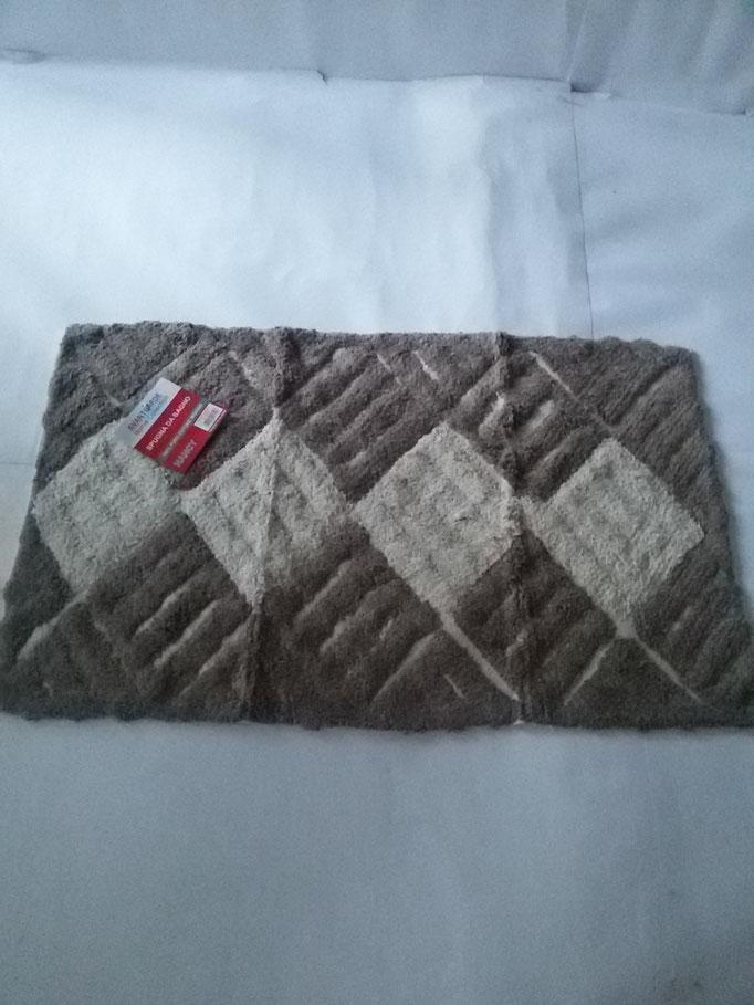 Tappeto bagno spugna di cotone 55x110 cm Marrone/Beige Art.A331