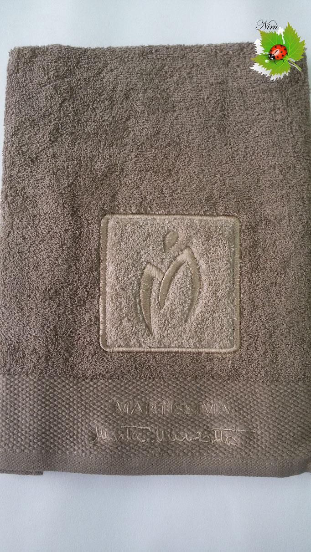 Asciugamano Marta Marzotto 1+1 asciugamano viso e ospite . Col.Fango.B187