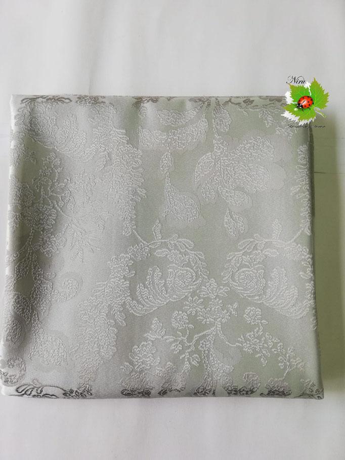 Scampolo tessuto jacquard dis. foglie 280x280 cm. Col.Tortora.B236