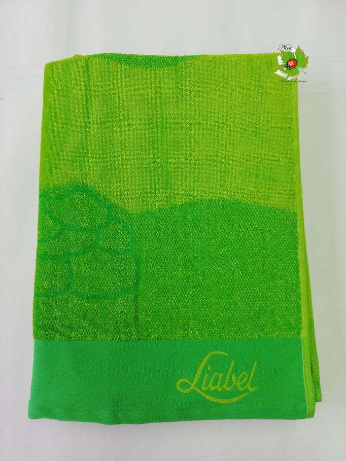 Telo mare spugna di cotone Liabel 90x170 cm. Col.Verde. A557