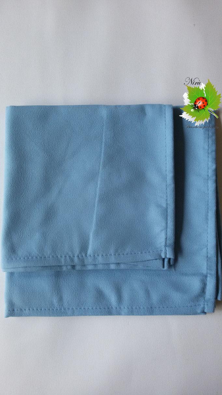 Set 1+1 asciugamano + ospite in microfibra. Col.Celeste.A812