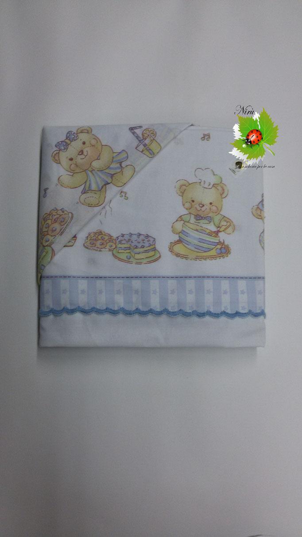 Completo lenzuola baby lettino stampato per culla 100% Cotone. Art.N180