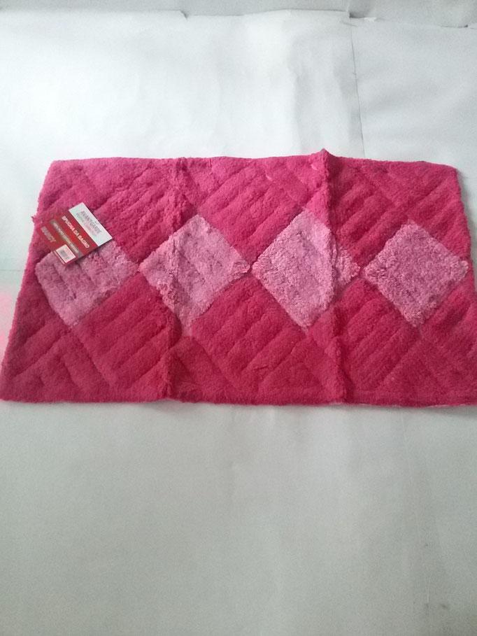 Tappeto bagno spugna di cotone 55x110 cm Rosa/Fucsia Art.A331