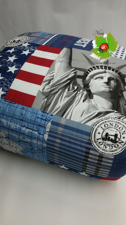 Trapunta U.S.A con stampa digitale 3D matrimoniale maxi.Art.A458