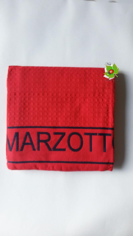 Telo mare piscina bagno a nido d'ape Marta Mazzotto 90x160 cm. Col.Rosso Art.N155