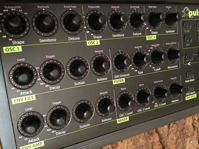 Xpuls BCR - Behringer BCR2000 Controller Overlay + MIDI Template, mxpand - für Waldorf Pulse 2, analog Synthesizer, hochwertige Bedien-Schablone/Skin/Folie, intuitiver Hardware Editor