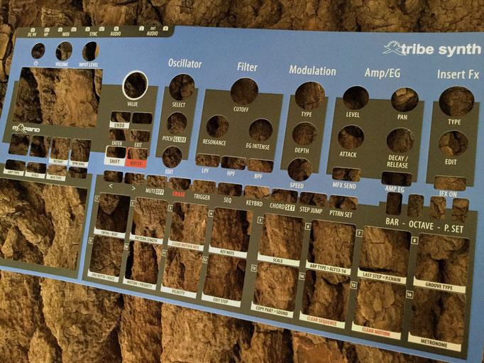 Xtribe Blue, Instrument Overlay von mxpand - für Korg Electribe 2 (E2), Synthesizer, Groovebox, Sequencer, hochwertige Bedien-Schablone/Skin/Folie, EMX-1