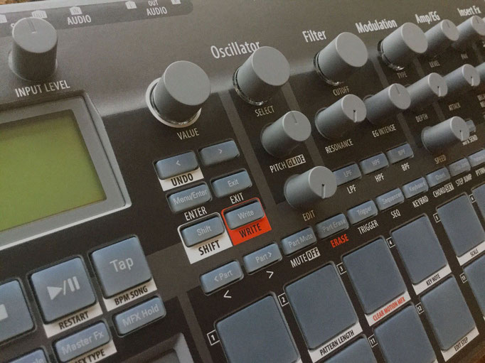 Xtribe Grey, Instrument Overlay by mxpand - for Korg Electribe 2 (E2), synthesizer, groovebox, sequencer, high-quality operation template/front foil/skin/film, EMX-1