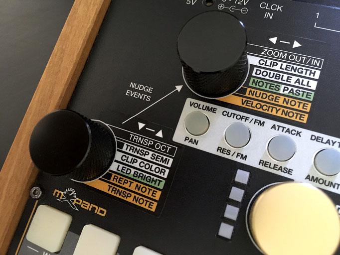 'Xluge Complete - Upgrade Kit 3.1', Overlay von mxpand - für Synthstrom Audible Deluge, Synthesizer, Sampler, Sequencer, Groovebox, hochwertige Bedien-Schablone/Skin/Folie