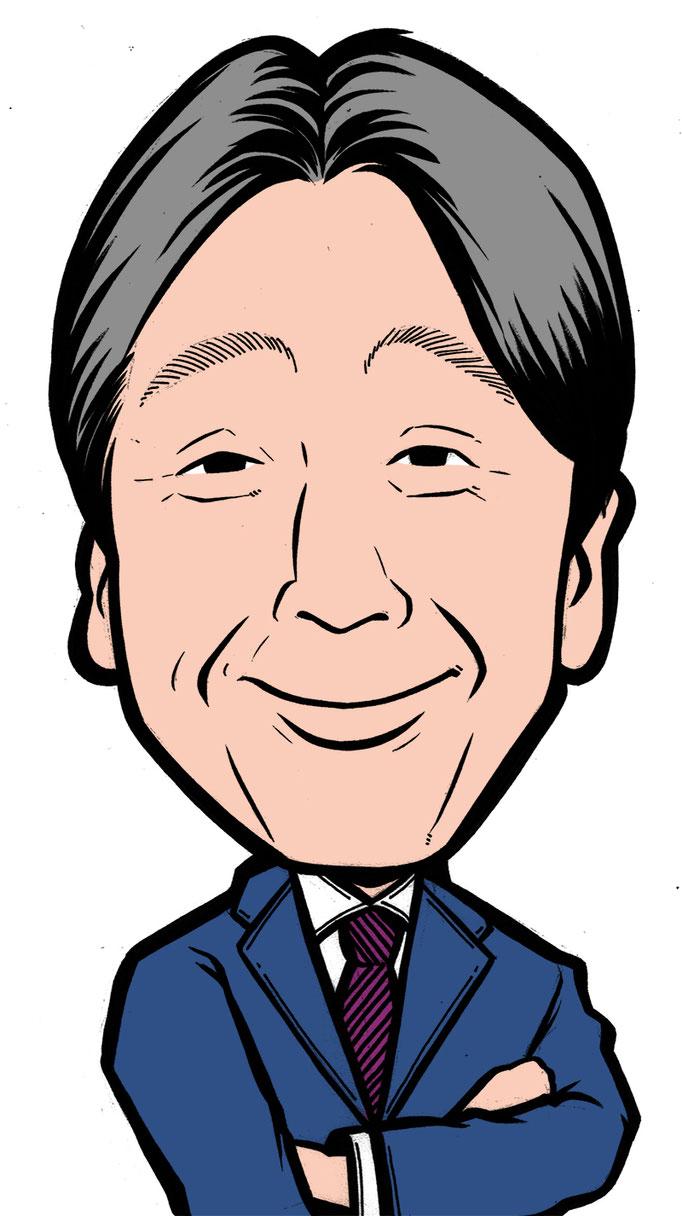 堺正章のデジタルカラー似顔絵