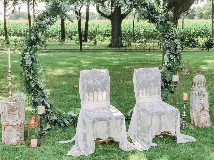 Traubogen Rund, Brautpaarstühle