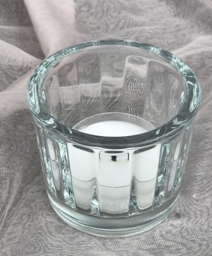 Teelicht gross / Facettglas