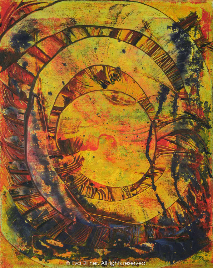 Aztec Sun C377 40x50cm ©2015 Eva Dillner