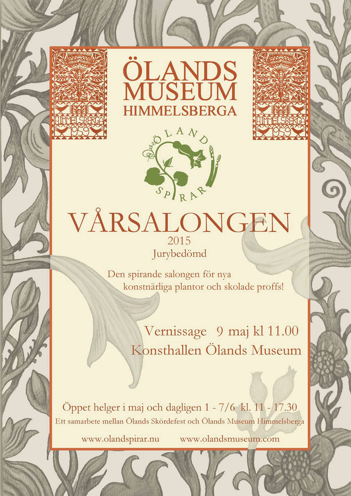 Vårsalongen Kalmar region, juried art show, Himmelsberga Museum 2015