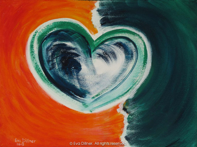Healing Heart C374 40x30cm ©2015 Eva Dillner