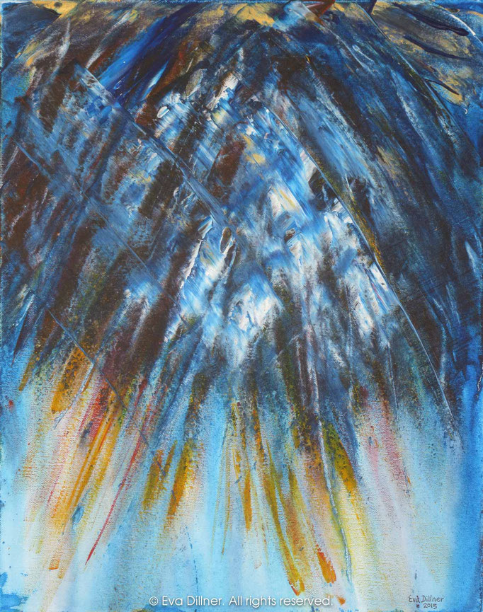 Cathedral Blues C378 40x50cm ©2015 Eva Dillner. Private collection Sweden
