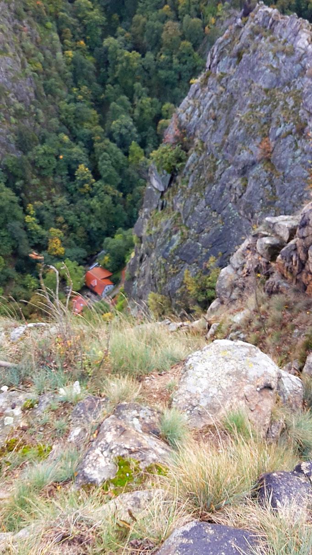 Blick ins Tal von der Rosstrappe