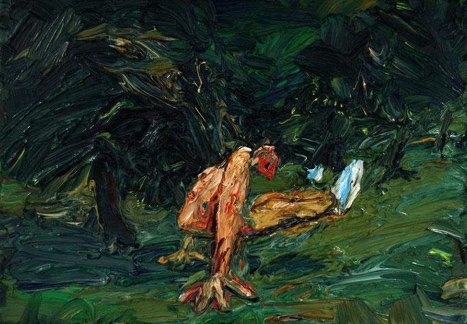 Frühsport  Öl auf Leinwand  35 x 50 cm