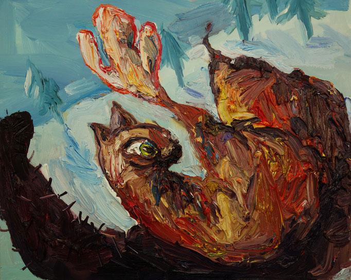 Schlidder  Öl auf Leinwand  60 x 50 cm