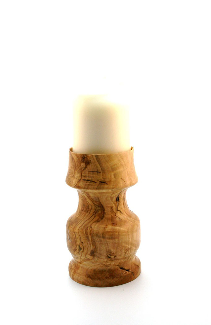 Candelabro en Olivo para una vela grande