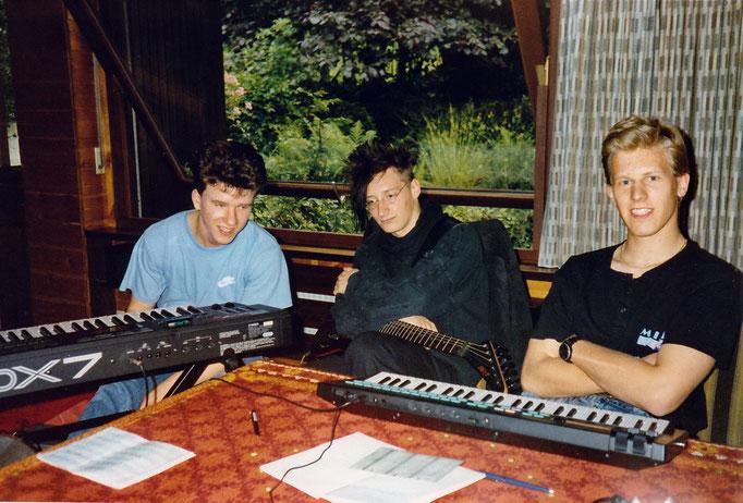 Songwriting (v.l.n.r.: Oliver Adenaw, Berno Pfeiffer, Dirk Schmalen)