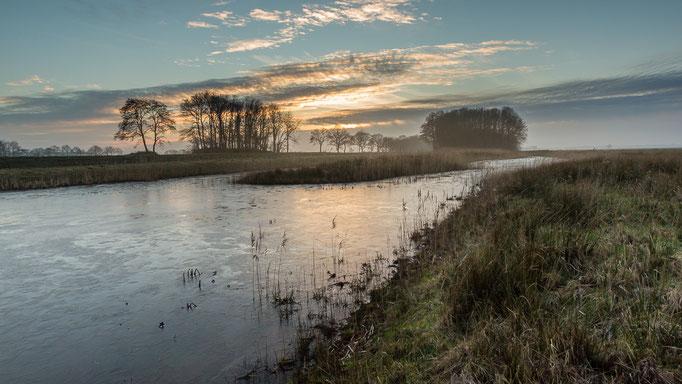 Tjongervallei, zonsondergang