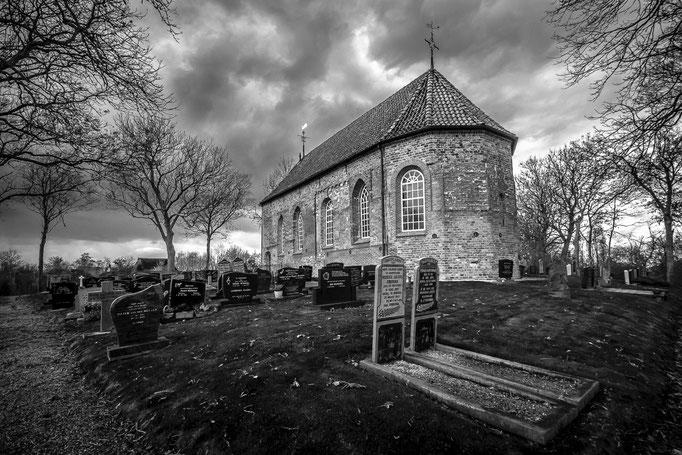Oude kerk op terp Wetsens
