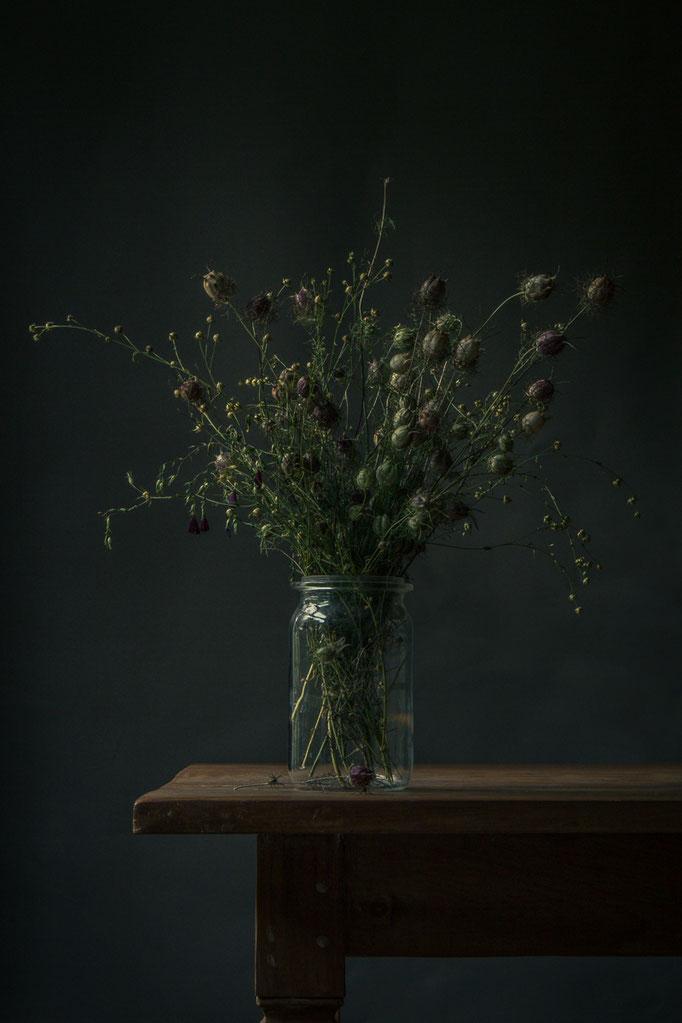 Stilleven boeket droogbloemen