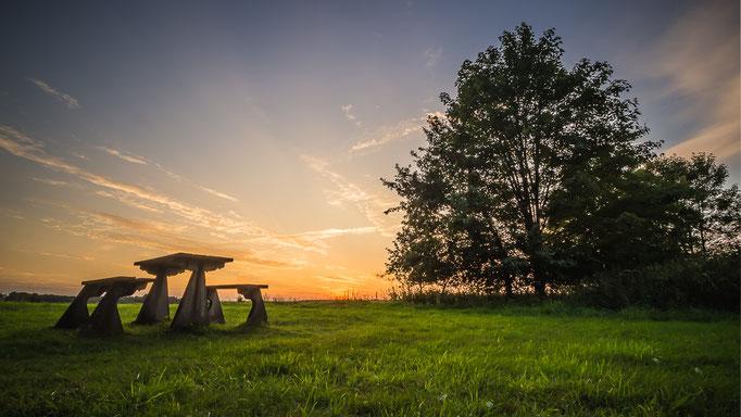 Uitzicht over de zonsondergang Schoonloo