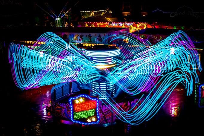 Kermis Groningen bij nacht