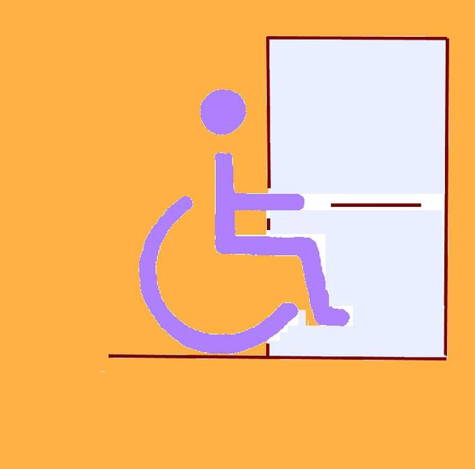 Bild8.2:Rollstuhlfahrer vor einer TürWir helfen barrierefrei , komfortabel und kostenoptimiert wohnen