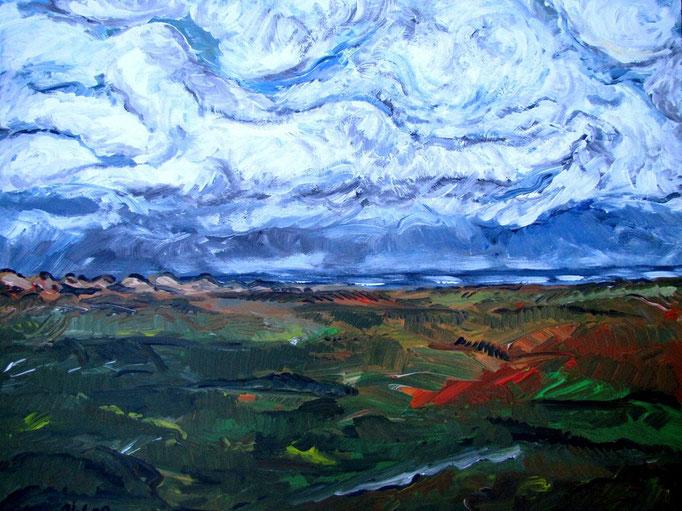 Frau in den Wolken, 2009, 54x82cm